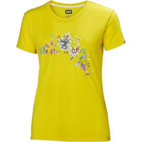 Helly Hansen Skog Graphic t-shirt Dames geel